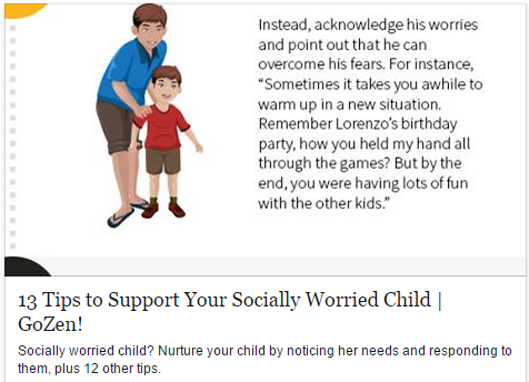 13 Tips to Support Your Socially Worried Child