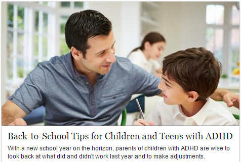 Back-to-School Tips for Children and Teens with ADHD