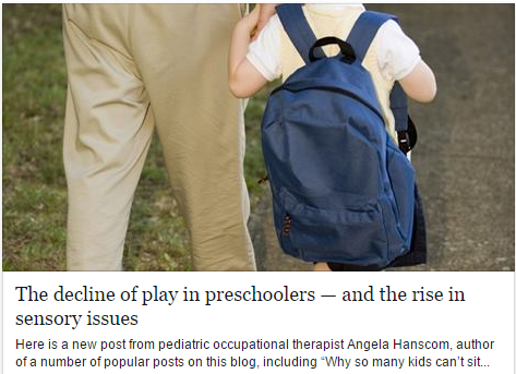 The decline of play in preschoolers